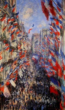 Claude Monet Painting - The Rue Montorgeuil Claude Monet